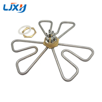 201SS 1 5inch DN40 Plum Shape Heating Pipe Hexagon Thread Electric Water Heater Element For Boiler