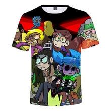 DLF 3-20 2019 New Sally Face T Shirt 3D Colorful Print Cool Funny T-Shirt Boys Tops Short Sleeve Summer Tshirt Girls Fashion Tee