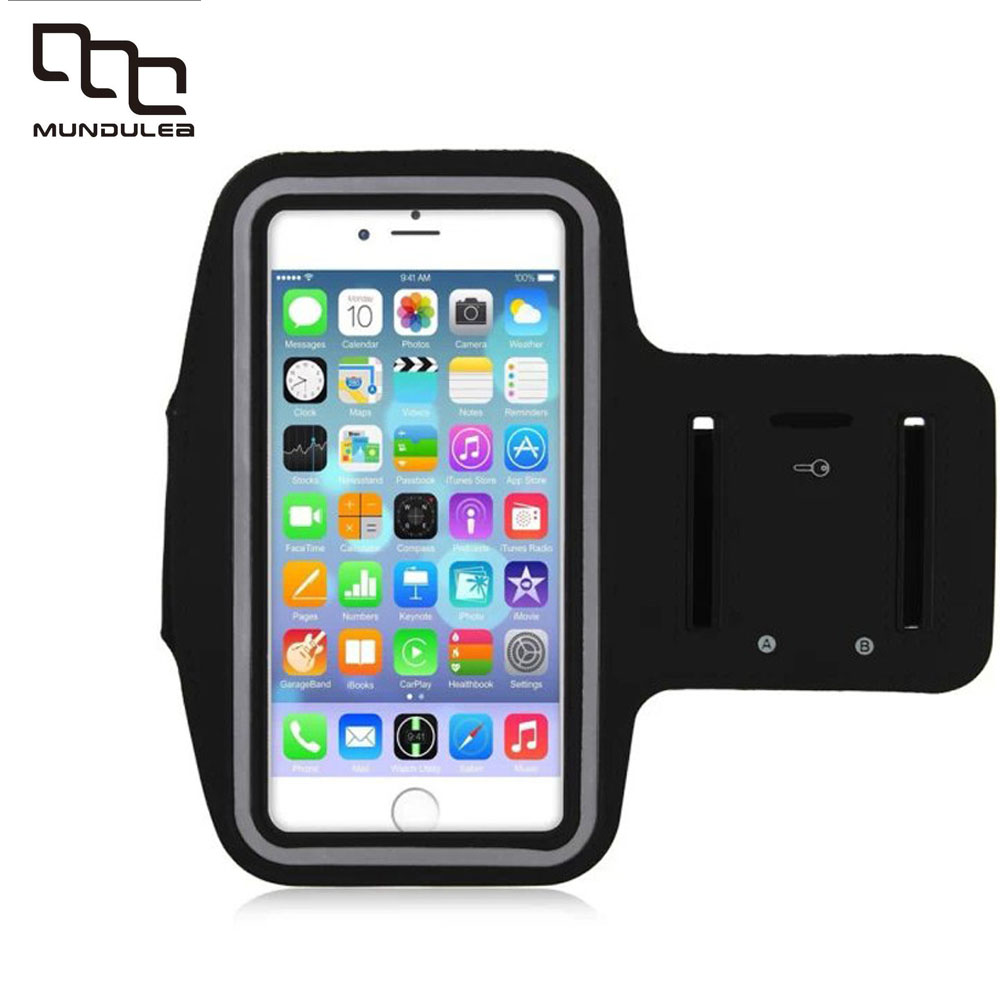 Workout Cover Sport Case For iPhone 6 pus 6S plus PU Holder Waterproof Running Riding Arm Band for samsung galaxy note 2 3 4 5