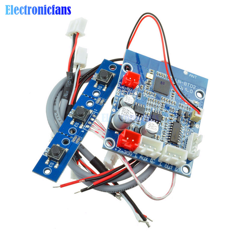 Placa receptora de Audio Bluetooth 4,0, módulo de sonido estéreo inalámbrico, módulo de conversión de amplio voltaje de 7V-30V para teléfono de coche, Kit DIY