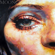 5D Diy Diamond Painting Cross Stitch Awkward Tears Woman 3D Embroidery Full Round Mosaic Decoration Resin Stickers Kits
