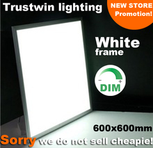 White frame square LED ceiling light ultra thin 2×2 LED panel light 600×600 white 36W 40W 48W dimmable panel light LED