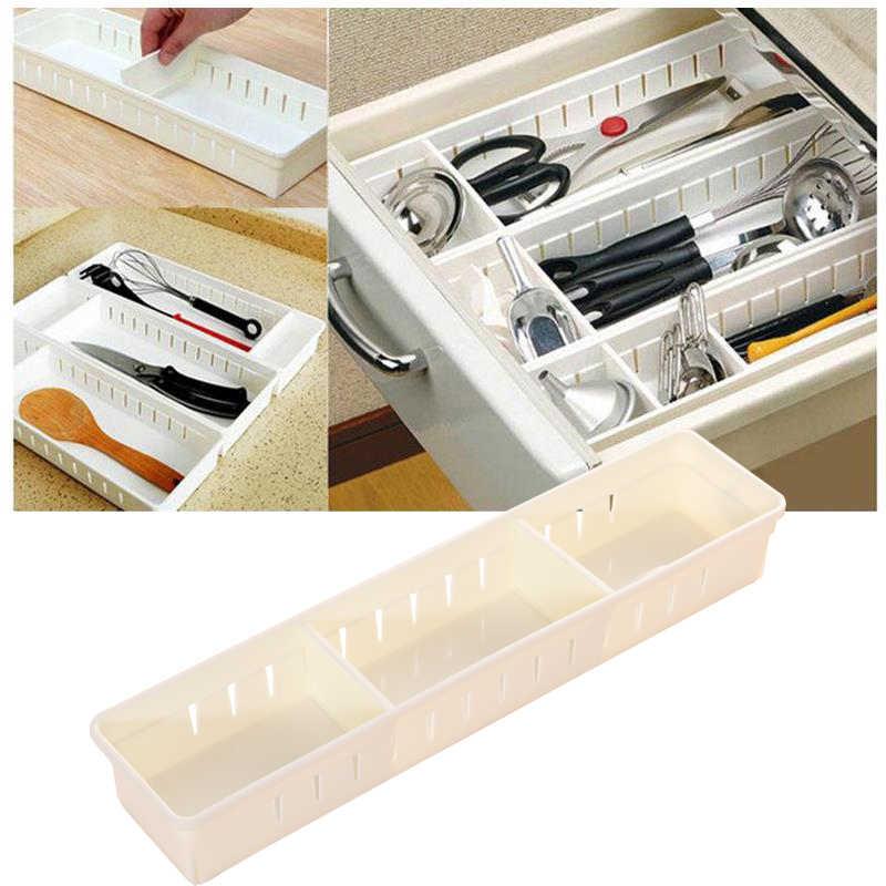 Organizador de gaveta ajustável caixa de armazenamento de plástico maquiagem cosméticos organizadores recipiente de armazenamento de jóias de escritório em casa organizador