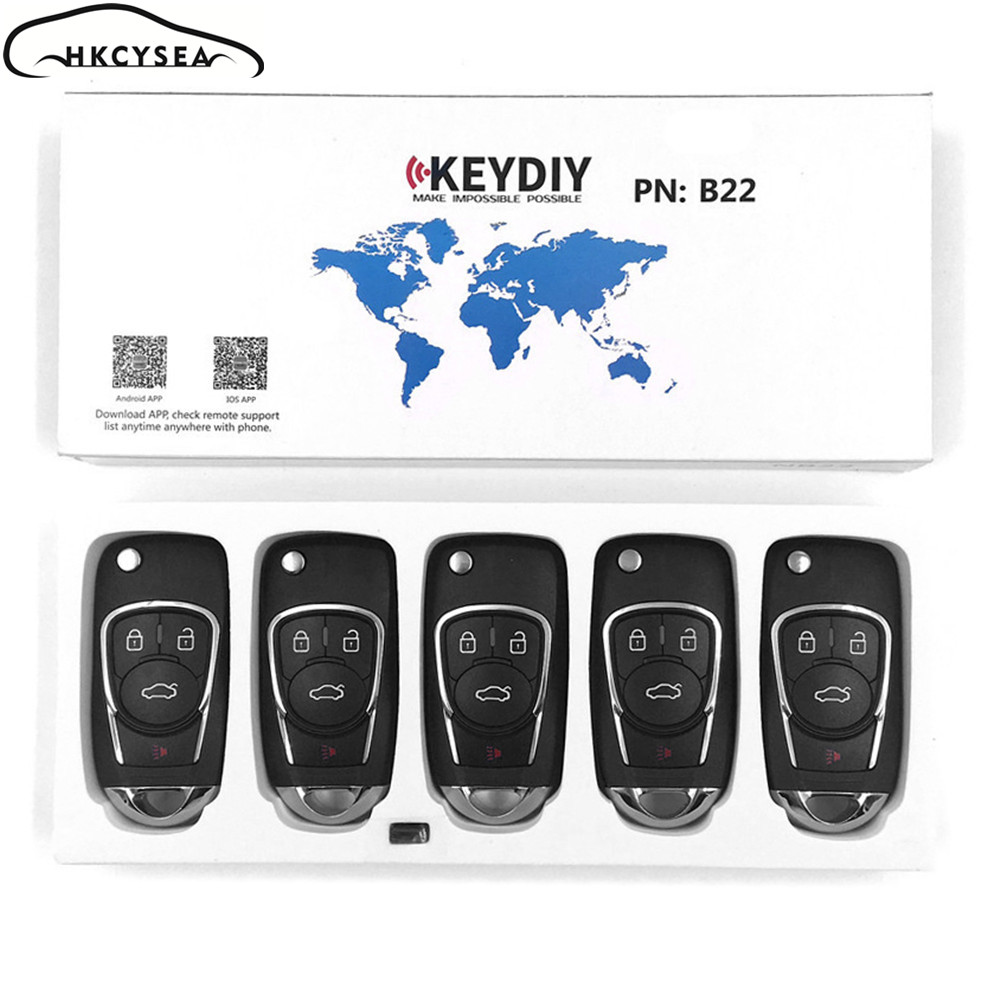 HKCYSEA 5PCS/LOT B22 B Series 3 3+1 4 Button Remote Control Car Key for Mini Kd KD900 KD900+ URG200 KD X2 Key Generator-in Car Key from Automobiles & Motorcycles    1