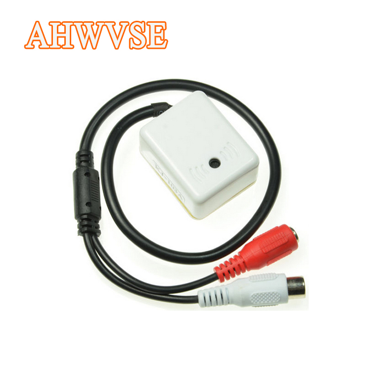 AHWVSE Audio pick up DC6-12V Power Wide Range Mic Audio Microphone CCTV Clear Sound Device for Camera DVR System audio pick up cctv microphone wide range camera mic audio mini microphone for cctv security dvr