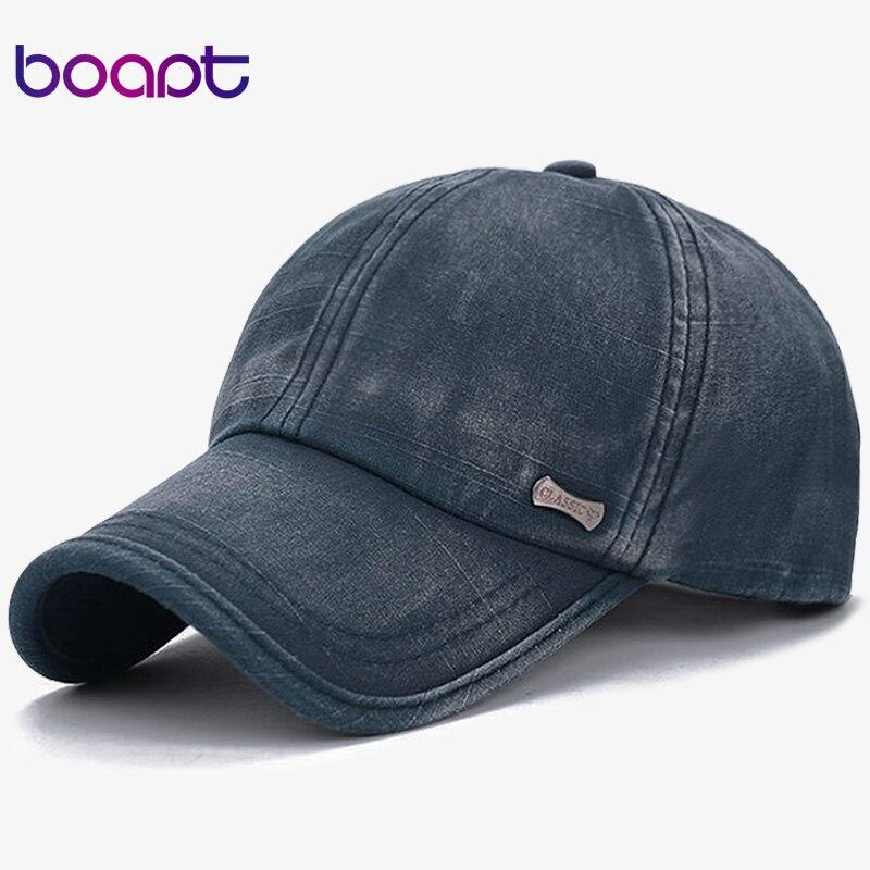 Prix pour BOAPT classique de mode en métal étiquette coton hommes casquettes de baseball d'été snapback cap unisexe vintage soleil chapeau pour homme de mode de femmes chapeaux