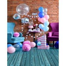 1.5×2.2 m Vinil Feliz um ano de aniversário festa fotografia backdrops impresso bebê recém-nascido pano de fundo para photo studio