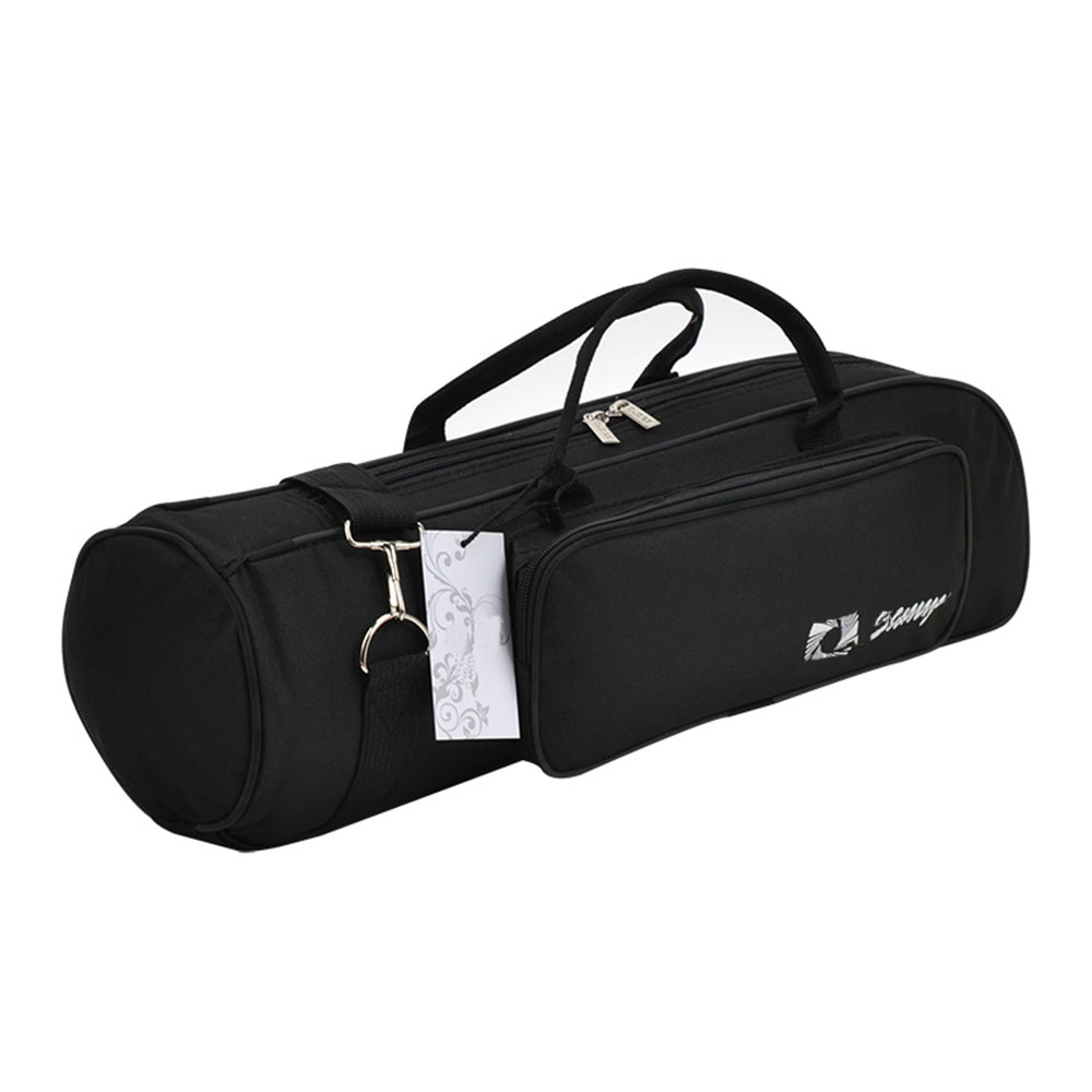 MoonEmbassy Waterproof Trumpet Gig Bag Adjustable Strap Brass Instrument Case With Pocket Accessories