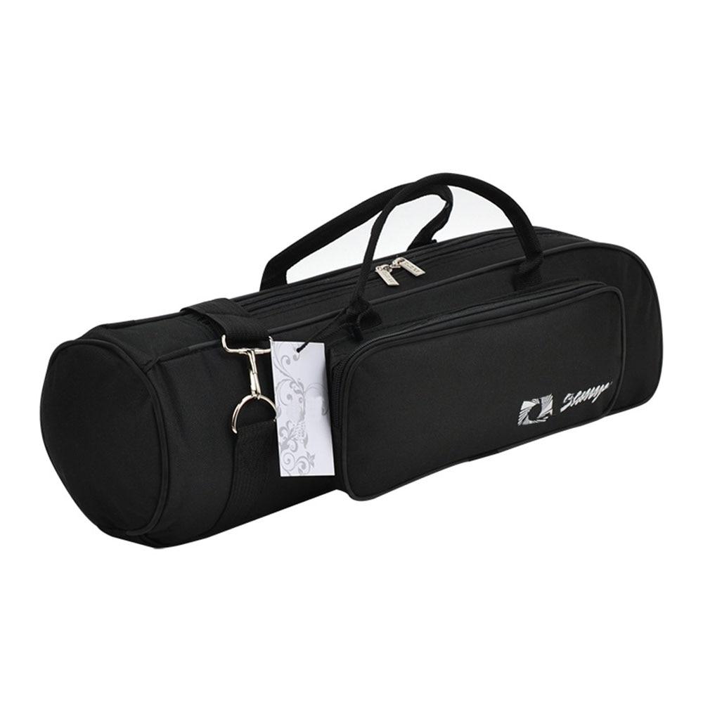 MoonEmbassy Waterproof Trumpet Gig Bag Adjustable Strap Brass Instrument Case With Pocket Accessories