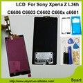 Con adhesivo + herramientas de la Pantalla LCD + asamblea Del Digitizador de la Pantalla Táctil Nuevo lcd para sony xperia z l36h c6606 c6603 c6602 c660x c6601