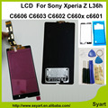 With adhesive +tools LCD Display +Touch Screen Digitizer assembly New lcd  For Sony Xperia Z L36h C6606 C6603 C6602 C660x c6601