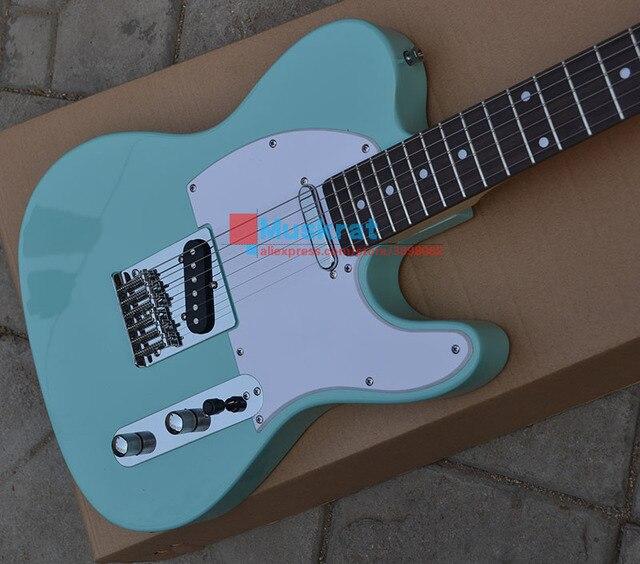 Venta al por mayor de fábrica guitarra eléctrica TL tilo color azul 6 cuerdas instrumento musical envío gratis guitarra accesorios de guitarra