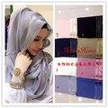 (12 peças/lote) 2016 novos projetos Muçulmano cachecol Hijab Islâmico Xale Envoltório cores sortidas HW201