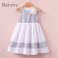 Cute Girls Summer Dress Children Kids Clothing Infant Dress Striped Vest Fashion Kids Summer Clothes With