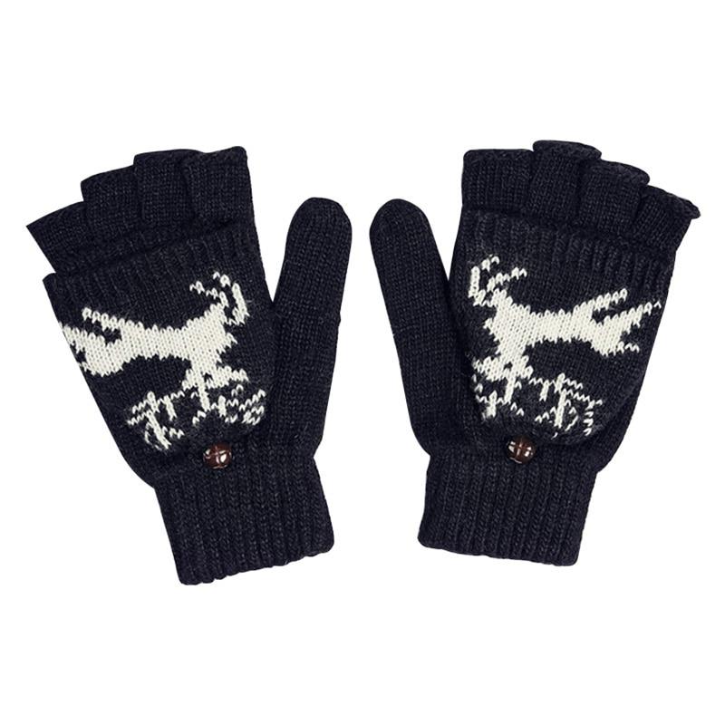 2017 Winter Gloves Warm Wool & Fine Nylon Womens