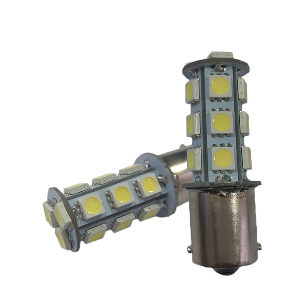 60pcs Hot Sale 1156 BA15S BAU15S 1157 BAY15D P21W LED 18SMD 5050 18 SMD Car Bulb Tail Brake Reverse Light Rear Lamp