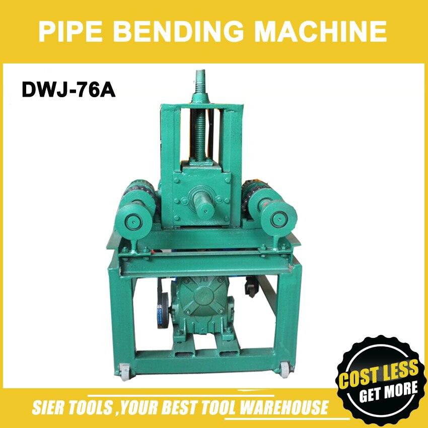 Dwj-76a máquina de dobra da tubulação / 3 mm espessura máxima / 76 mm Max rodada de tubulação / tubo bend Machine / máquina com todos os 24 pcs modelo