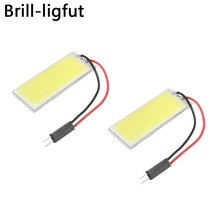 Super Bright White COB 16 24 36 48SMD LED dome Vanity Mirror Lamp Light Panel Car Interior Reading Map Parking Bulb Lamp DC12V car led dc12v big promotion t10 24 smd cob led panel super white car auto interior reading map lamp bulb light car light source