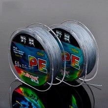 Trulinoya Grey Color 4 Strands Braided PE Fishing Lines 100M High Performance Super Braid Line