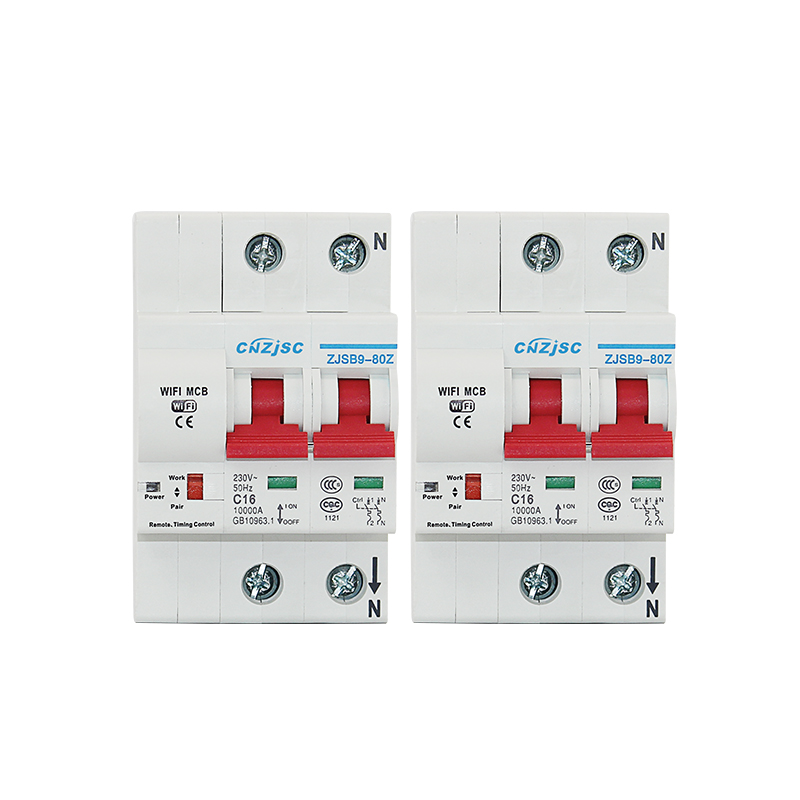 2PCS 2P WiFi Smart Switch Circuit breaker overload short circuit protection Support Amazon Alexa google home for Smart home