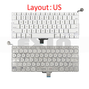 """Image 2 - New A1342 Keyboard US USA English UK French Russian Keyboards for Apple Macbook 13"""" inch Unibody White A1342 US Keyboard Year"""