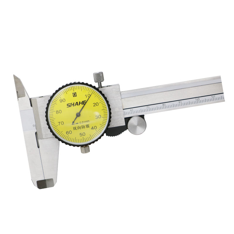 Caliper Micrometer Shock Stainless Gauge Mm 01 6 SHAHE Caliper  Vernier Dial Steel 0 Proof Dial