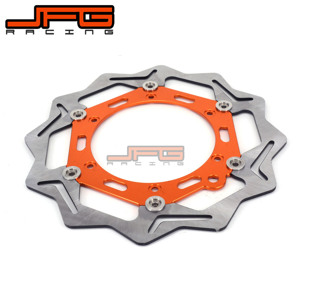270mm Front Floating Brake Disc Rotor For KTM 125 200 250 300 350 400 640 EXCF SXF XCW EXC SX DUKE Motocross Enduro Dirt bike free shipping aluminium wave motorcycle accessories front brake disc rotor disk for ktm 125 200 390 duke 2013 2014