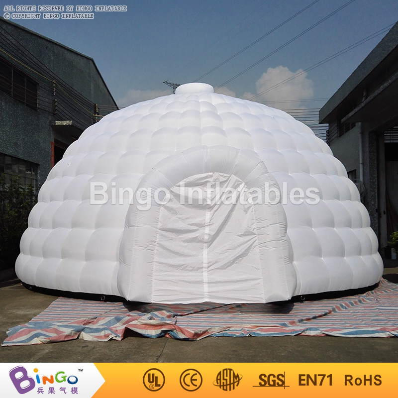 8 * 8.8 * H4.5M White inflatable dome tents large inflatable igloo tent party tents for events with free fan toy tents-in Inflatable Bouncers from Toys ... & 8 * 8.8 * H4.5M White inflatable dome tents large inflatable igloo ...