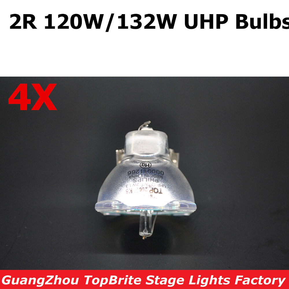 Free Shipping 4XLot 120W/132W Lamp 2R UHP Halogen Bulb For Beam 120W Sharpy Moving Head Beam Light Bulb DJ Disco Stage Lights 6pcs lot white color 132w sharpy osram 2r beam moving head dj lighting dmx 512 stage light for party