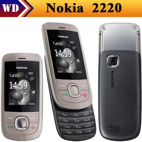 Цена за Nokia 2220 s, 2220 скользящий мобильных телефонов, разблокированный 2220 s сотовых телефонов mp3 плеер отремонтированный
