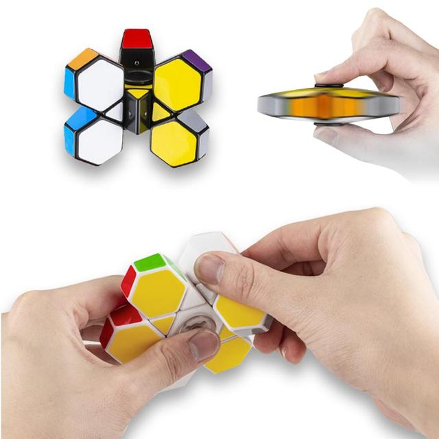 Антистресс-кубик-Спиннер 1x3x3 сенсорная игрушка Волшебная головоломка крутой мини-гаджет для детей и взрослых вечерние игрушки для детей