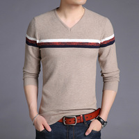 New 2018 Autumn Men Casual Slim Knit T shirt Men's render knitted Sweater Shirts Men Tops Tees men's Pull over Retro 1575