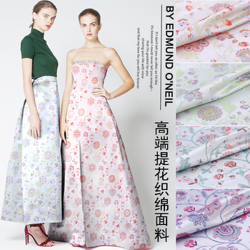 France gold thread jacquard fabric autumn and winter clothing coat dress jacquard fabric cheongsam gold thread brocade fabric