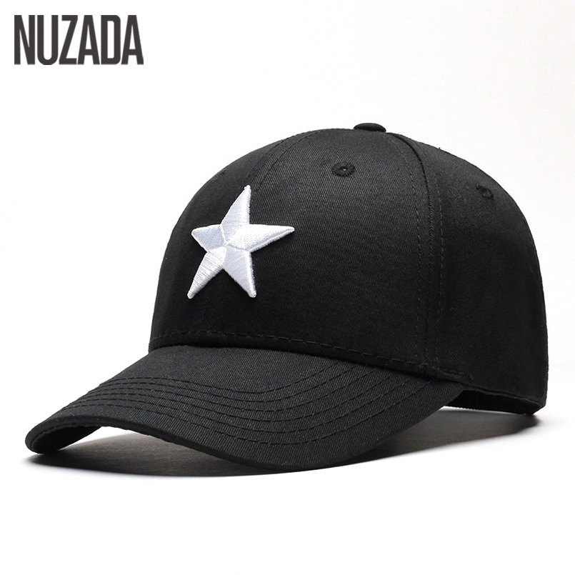 Brand NUZADA Snapback Bone Men Women Baseball Caps Spring Summer Autumn Embroidered Five-Pointed Star Hip Hop Hats Cap yb-002 brand nuzada snapback summer baseball caps for men women fashion personality polyester cotton printing pattern cap hip hop hats