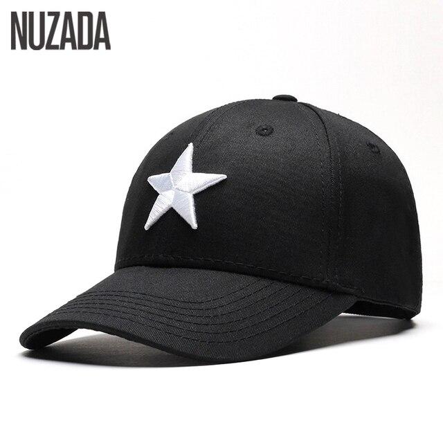 Marca nuzada SnapBack hombres mujeres Gorras de béisbol Primavera Verano  otoño bordado estrella de cinco puntas 0b84046e42f