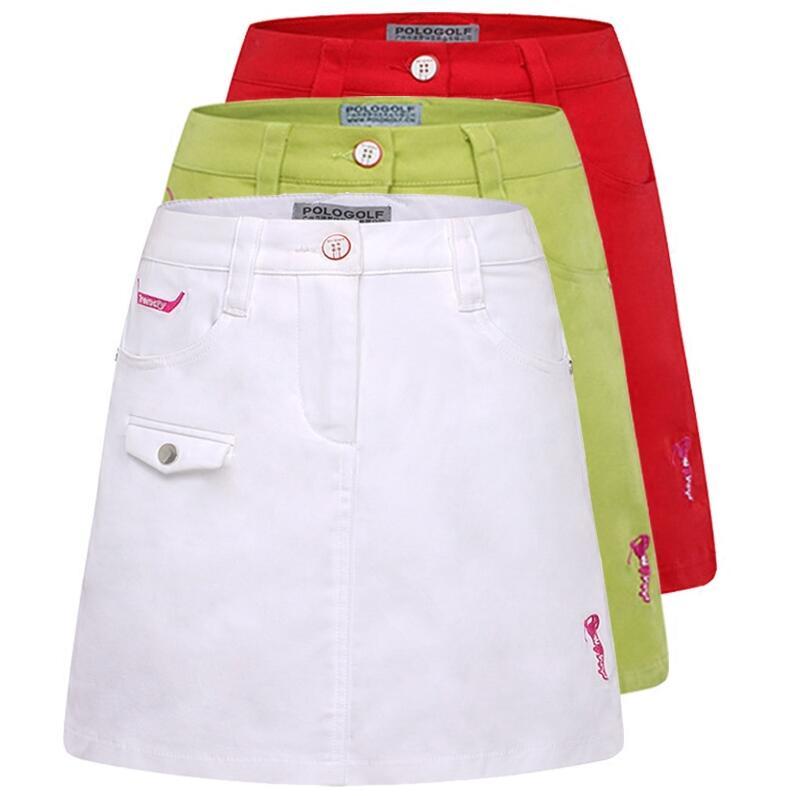 82b6bd4d08 POLO GOLF Ladies Anti Leakage Golf Skorts Skirt Solid Slim golf skirts  summer cotton Breathable Quick