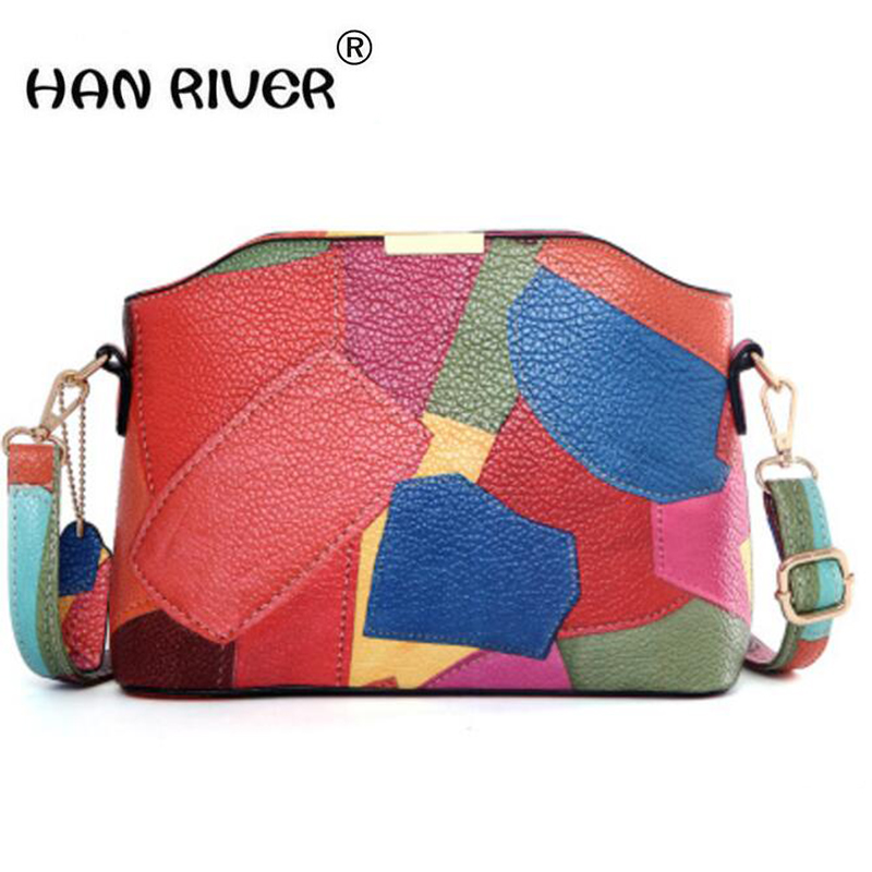 HANRIVER Fashion and leather small bags European and American fashion 2018 new women bag classic shell bag women's shoulder bag high tech and fashion electric product shell plastic mold