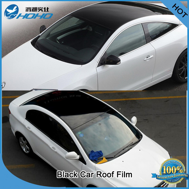 BLACK Glossy Vinyl Wrap Car Auto Roof Film Sheet Foil - PREMIUM - 300cm  x135cm  1d90db8f762a