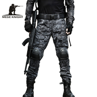 MEGE 13 Camouflage Color Tactical Clothing Army Of Combat Uniform Military Pants With Knee Pad Hunting