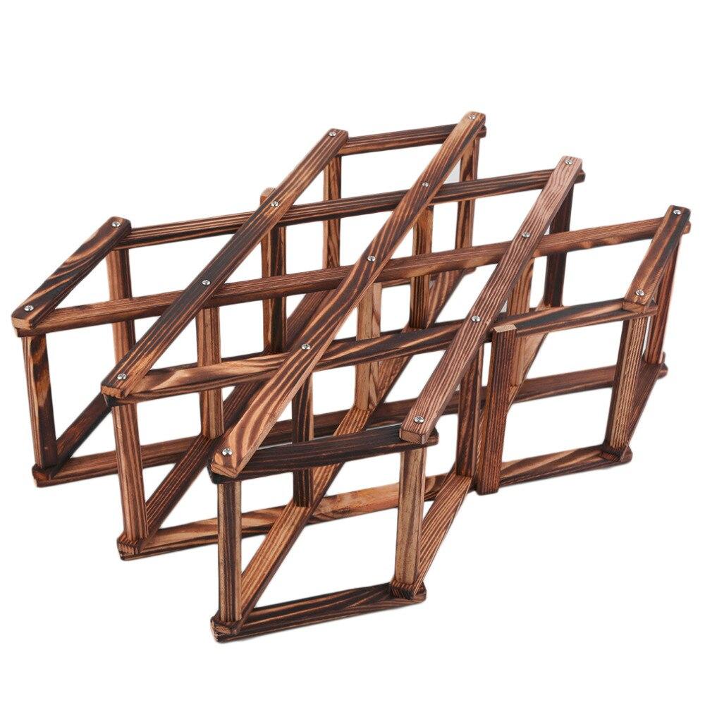 hot classical wooden red wine rack bottle holder mount kitchen bar