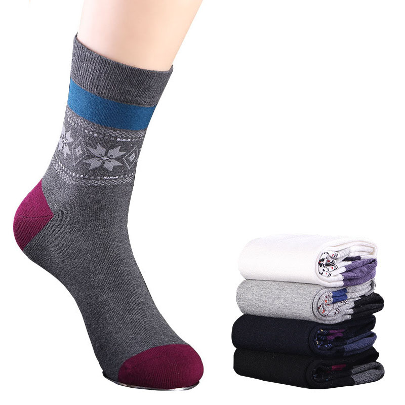 6 Pairs Men Socks Spring Summer New Business Wind Sweaty Combed Cotton Socks Shaping Comfortable Breathable Business Men Socks