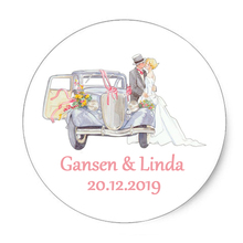 100 Pieces 2.8-7CM Custom Personalized Wedding Stickers Invitations Candy Favors Gift Boxes Labels Birthday Logo Photo