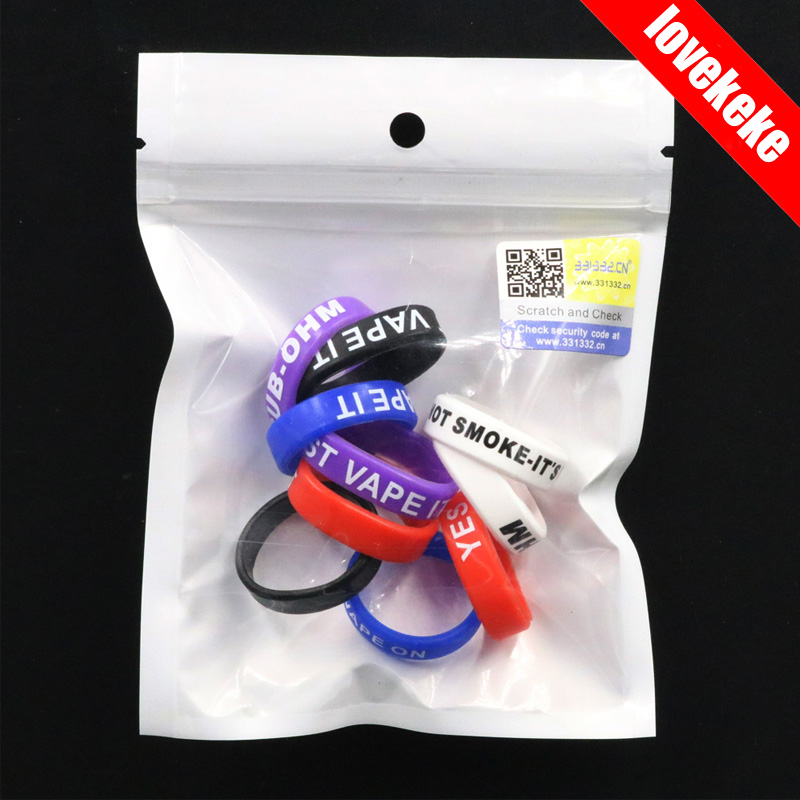 Authentic 331332 22*7mm silicone banda vape anel de silicone ecig vapeband para ego aio subtanque mini tfv4 tanque etc logotipo do oem disponível