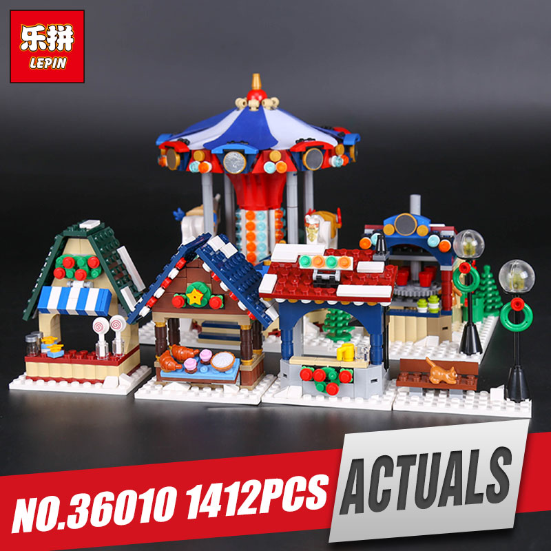 Lepin 36010 Genuine 1412Pcs Creative Series The Winter Village Market Set 10235 Building Blocks Bricks Educational Toys As Gift cf230a black compatible toner cartridge for hp laserjet m203d m203dn m203dw laserjet pro mfp m227fdn m227fdw no chip