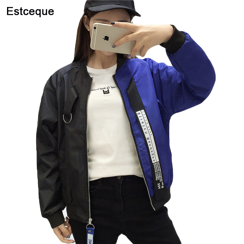 baseball   Jackets   Women 2018 New Fashion Women's   Basic     Jacket   Casual Windbreaker Female Outwear Women Coat
