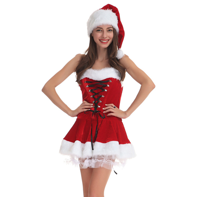 christmas costumes for women girls christmas dress sexy cos performance suit outfit santa claus costume for - Christmas Clothes For Adults