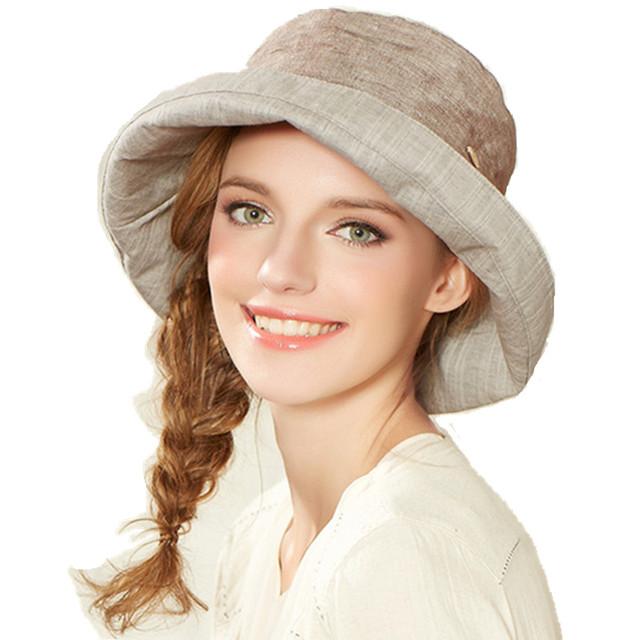 Kenmont de Las Mujeres de Señora Girl Moda de Verano Vacaciones en la Playa de Ala Ancha Sol Cubo Sombrero De Panamá Algodón Cap con Bowknot 3079