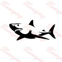 2X2017 חם רכב-חידוש סטיילינג כריש לבן צד מדבקה לרכב עבור מכוניות, משאית חלון, האוטומטי SUV דלת קיאק ויניל מדבקות JDM
