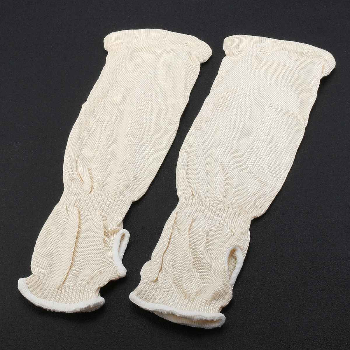 1 Pair Welding Arm Sleeve Knit Heat Protection Cut Resistant Safety Denim