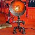 Светодиодные Лампы Настольные Светильники Loft Эдисон Американский Промышленный Винтаж Кованого Железа Водопровод Украшения Настольная Лампа